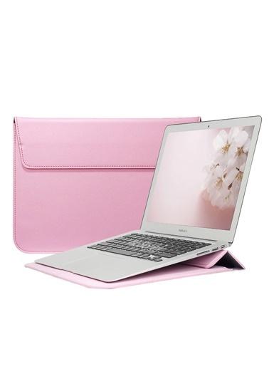 Mcstorey Apple MacBook Air Retina 13.3'' Deri Çanta Kılıf Pembe